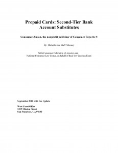 Consumers Union Prepaid Report 2010