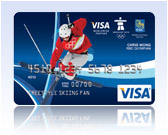 Chris Wong Visa Olympic Gift Card