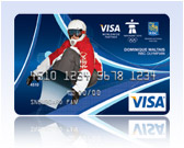 Snowboarder Visa Olympic Gift Card