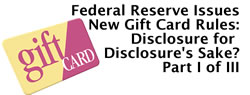 Federal Reserve Publishes Gift Card Rules