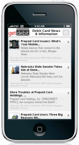GetDebit.com Debit Card News iPhone App