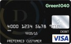 Green 1040 tax refund card