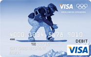 Visa Olympic Gift Card Snowboarder